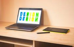 Ordenador portátil y tableta de gráficos Imagen de archivo