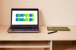 Ordenador portátil y tableta de gráficos Imagenes de archivo