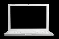 Ordenador portable blanco Imagen de archivo libre de regalías