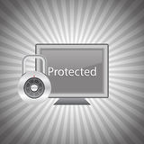 Ordenador protegido Fotografía de archivo