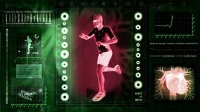 Ordenador que radiografía el cuerpo humano stock de ilustración
