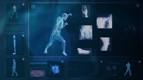 Ordenador que radiografía el cuerpo humano libre illustration