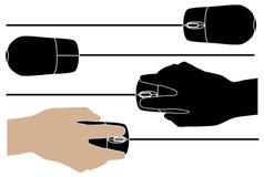 Ordenador-ratones Imagen de archivo