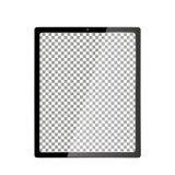 Ordenador realista con la pantalla transparente del papel pintado aislada Sistema de grupos y de capas separados de la maqueta de Fotografía de archivo libre de regalías