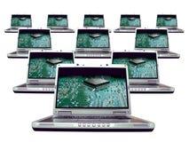 Ordenador - red de la computadora portátil fotografía de archivo