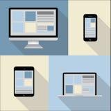 Ordenador, tableta, teléfono móvil, ejemplo del ordenador portátil - colección