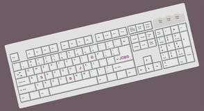 Ordenador/teclado conceptuales de la PC stock de ilustración