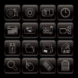 Ordenador, teléfono móvil e Internet Foto de archivo libre de regalías