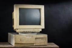 Ordenador viejo Fotos de archivo libres de regalías