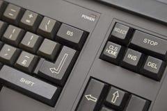 Ordenador viejo - detalle del teclado Imágenes de archivo libres de regalías