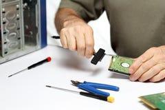 Ordenador y herramientas Fotos de archivo libres de regalías