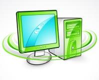 Ordenador y monitor Fotografía de archivo libre de regalías