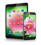 Ordenador y smartphone de la tableta ilustración del vector