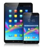 Ordenador y smartphone de la tableta Foto de archivo
