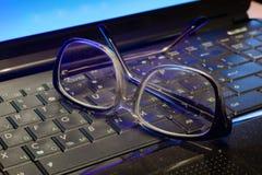 Ordenador y visión Foto de archivo