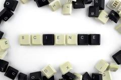 Ordenadores e inform?ticas en industrias y campos de la actividad humana - concepto La ciencia en un fondo blanco de fotografía de archivo
