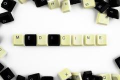 Ordenadores e inform?ticas en industrias y campos de la actividad humana - concepto la medicina La palabra se presenta en a foto de archivo libre de regalías