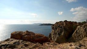 Ordenancista del cabo en la isla de Ibiza, Baleares almacen de video