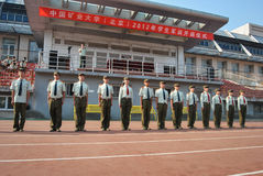 Ordentliche Station 11 der China-Student-militärischen Ausbildung Stockbilder