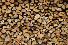Ordentliches woodpile Stockbild