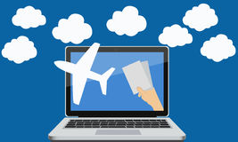 Order air tickets Royalty Free Stock Photo