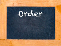 The order board Stock Images