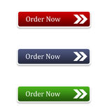 Order Buttons II - Red, Blue and Green Stock Image