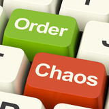 Order Or Chaos Keys Showing Either Organized Or Unorganized Royalty Free Stock Image