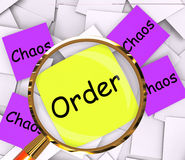 Order Chaos Post-It Papers Show Organized Or Confused Royalty Free Stock Photos