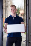 Order delivered by courier Stock Images