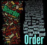 Order and Disorder. Word clouds on black royalty free illustration