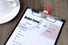 Order form clipboard. Stock Photos
