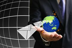 Order form customer. Globalization concept Royalty Free Stock Photos