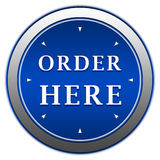 Order here button Royalty Free Stock Images