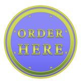 Order here button Stock Photos