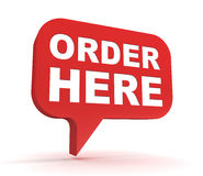 Order here concept 3d illustration Royalty Free Stock Images
