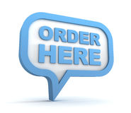 Order here concept 3d illustration Royalty Free Stock Image