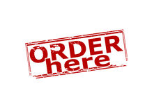 Order here Royalty Free Stock Photo