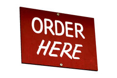 Order here sign Stock Photography