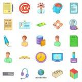 Order icons set, cartoon style Stock Photography