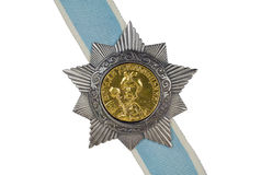 Order of Khmelnytsky II degree on the ribbon. Order of Bohdan Khmelnytsky II degree on the ribbon on a white background stock image