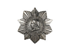 Order of Kutuzov III degree. Order of Kutuzov III degree on white background stock photography