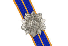 Order of Kutuzov III degree on the ribbon . Order of Kutuzov III degree on the ribbon on a white background stock images