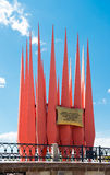 Order of Lenin monument in Yekaterinburg. on June 12, 2012. It w Stock Photos