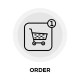 Order Line Icon Stock Image