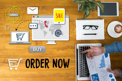 Order Now Add to Cart Online  Order Store Buy shop  Online payme Royalty Free Stock Photo