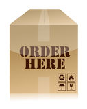 Order now box illustration design Royalty Free Stock Photography