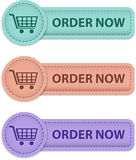 Order now buttons Royalty Free Stock Image