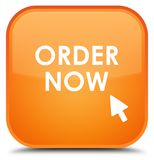 Order now special orange square button Royalty Free Stock Photo