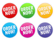 Order Now Label Royalty Free Stock Photo
